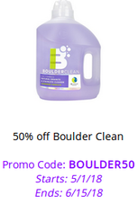 50% off Boulder Clean with code BOULDER50. Valid through 6/15